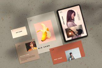 Stationery Cards Mockup