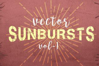 Vector Sunbursts & Sunrays
