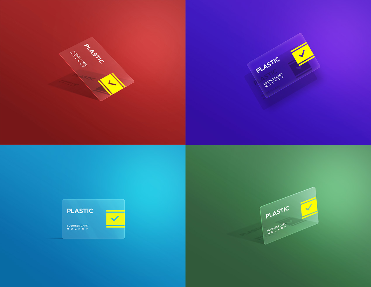 Plastic Business Card Mockups