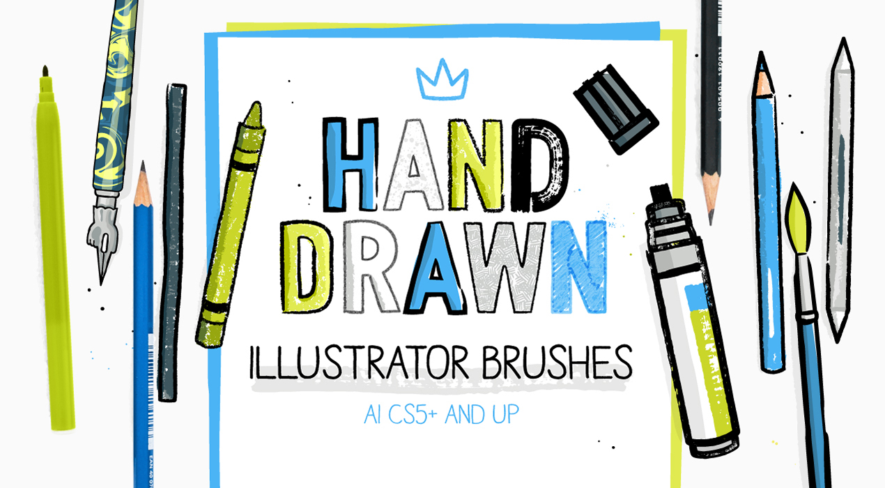 30 Hand-drawn Brushes For Illustrator