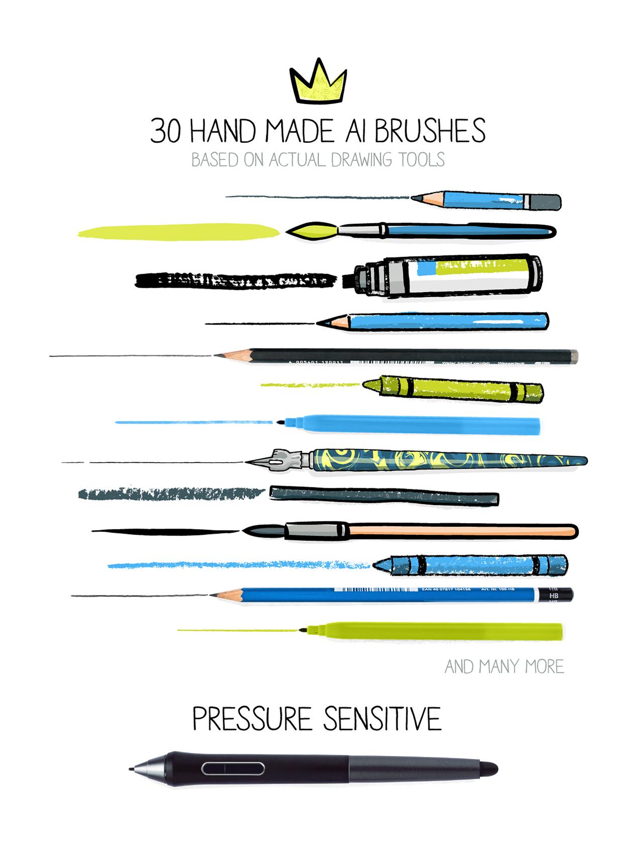 Hand-drawn Illustrator Brushes