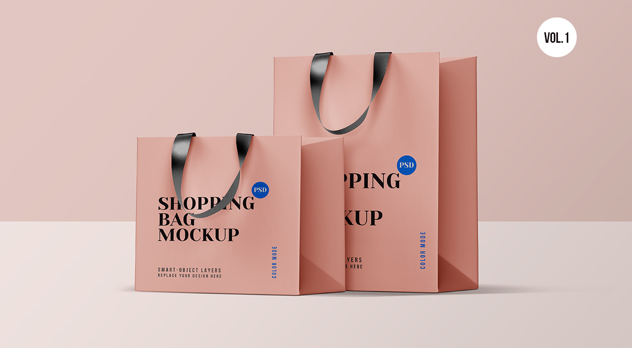 Shopping Bag PSD Mockups Vol.1