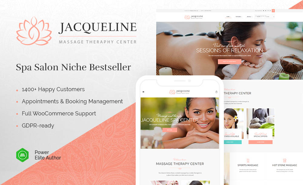 Jacqueline – Spa & Massage Salon Theme
