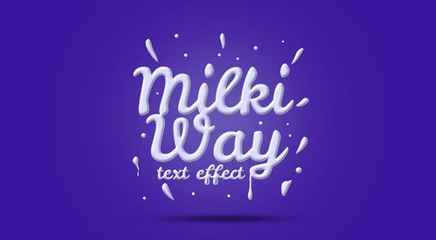 Milk Text Effect