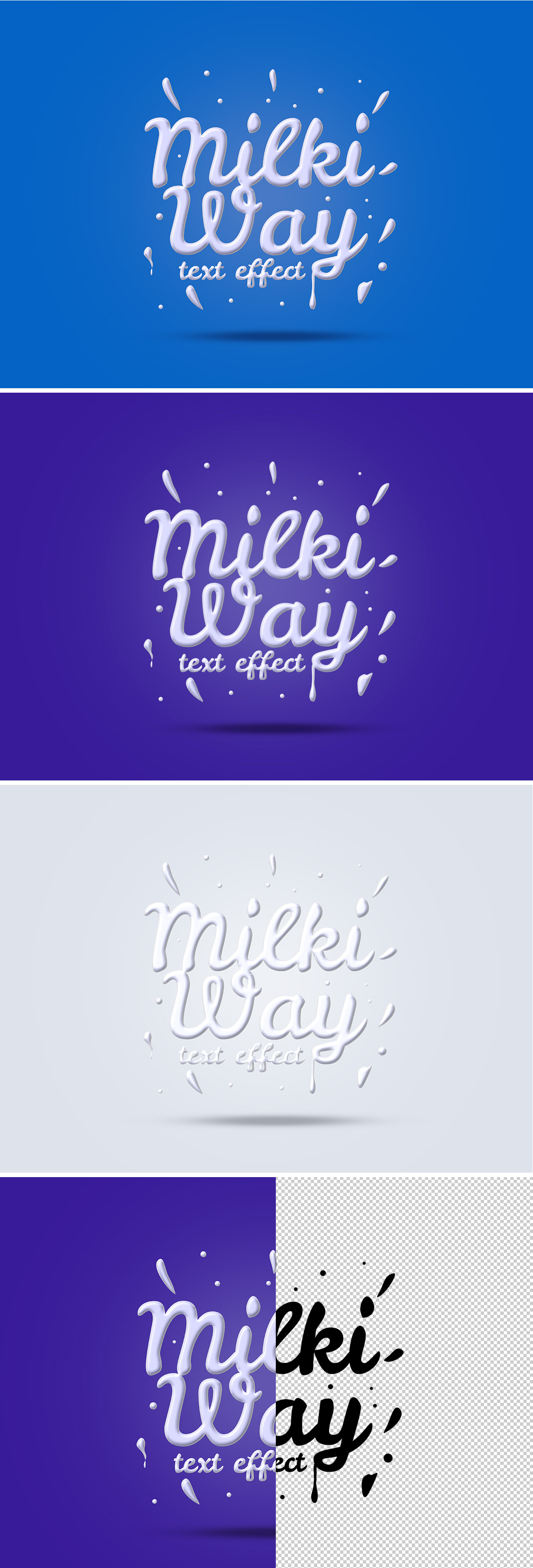 PSD Milk Text Effect