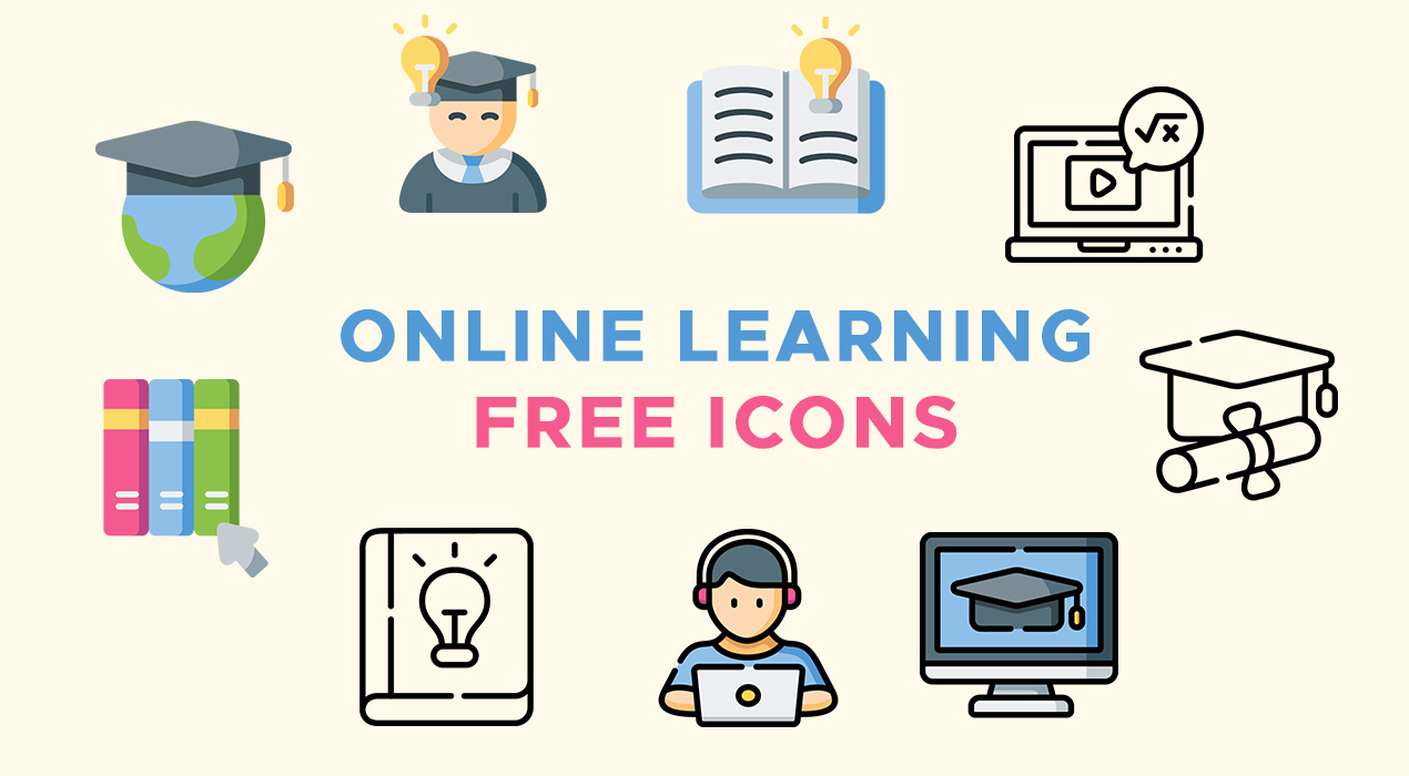 Online Learning Icons