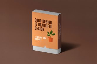 Slide Product Box Mockup PSD