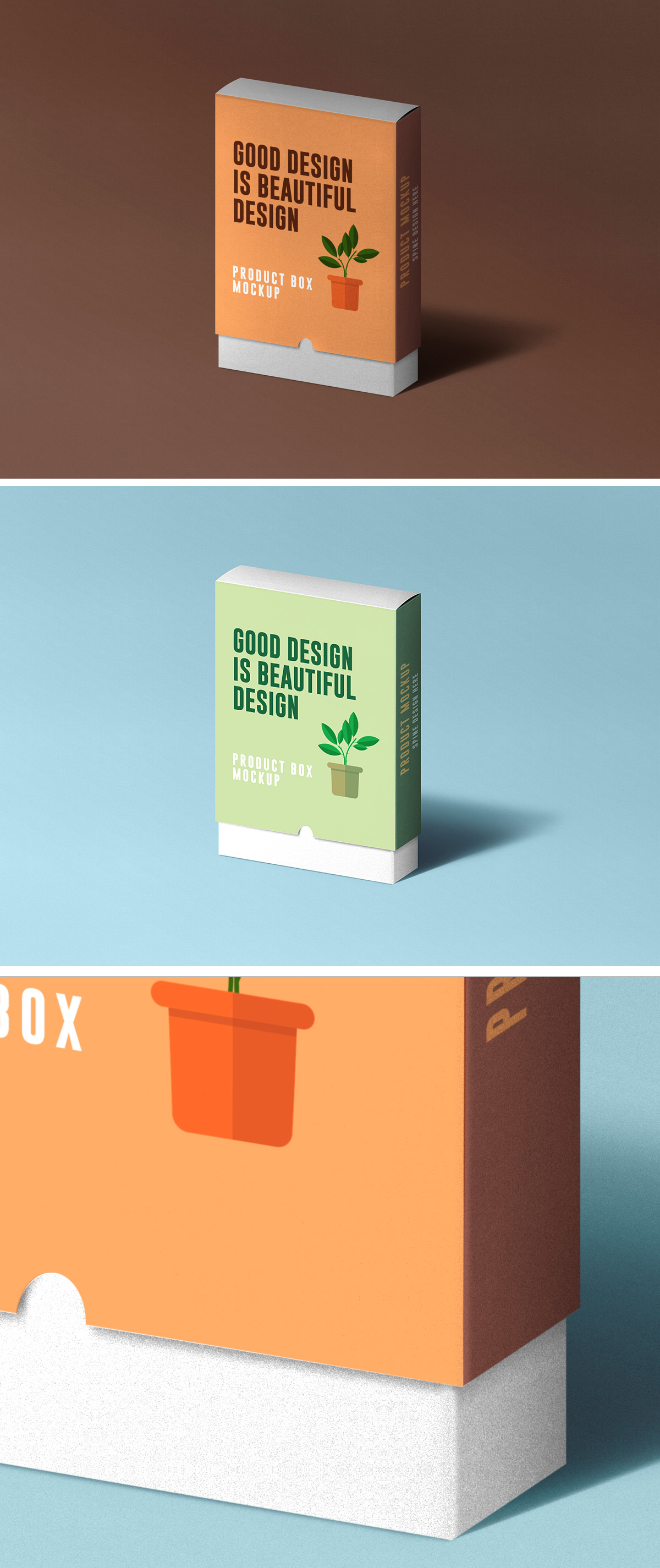 Slide Product Box Mockup