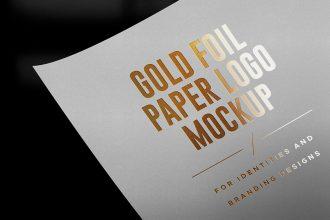 Goldfoil & Silverfoil Logo Mockups