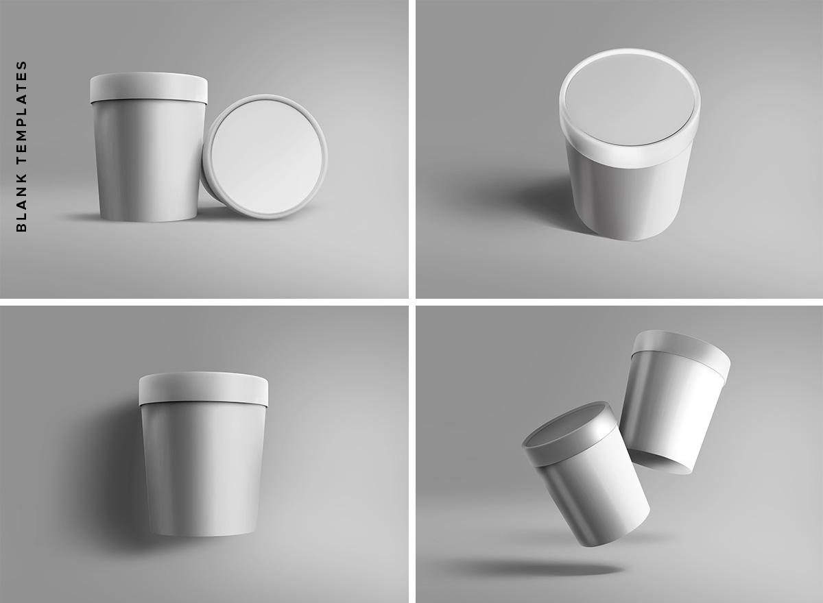 Ice Cream Cup PSD Mockups