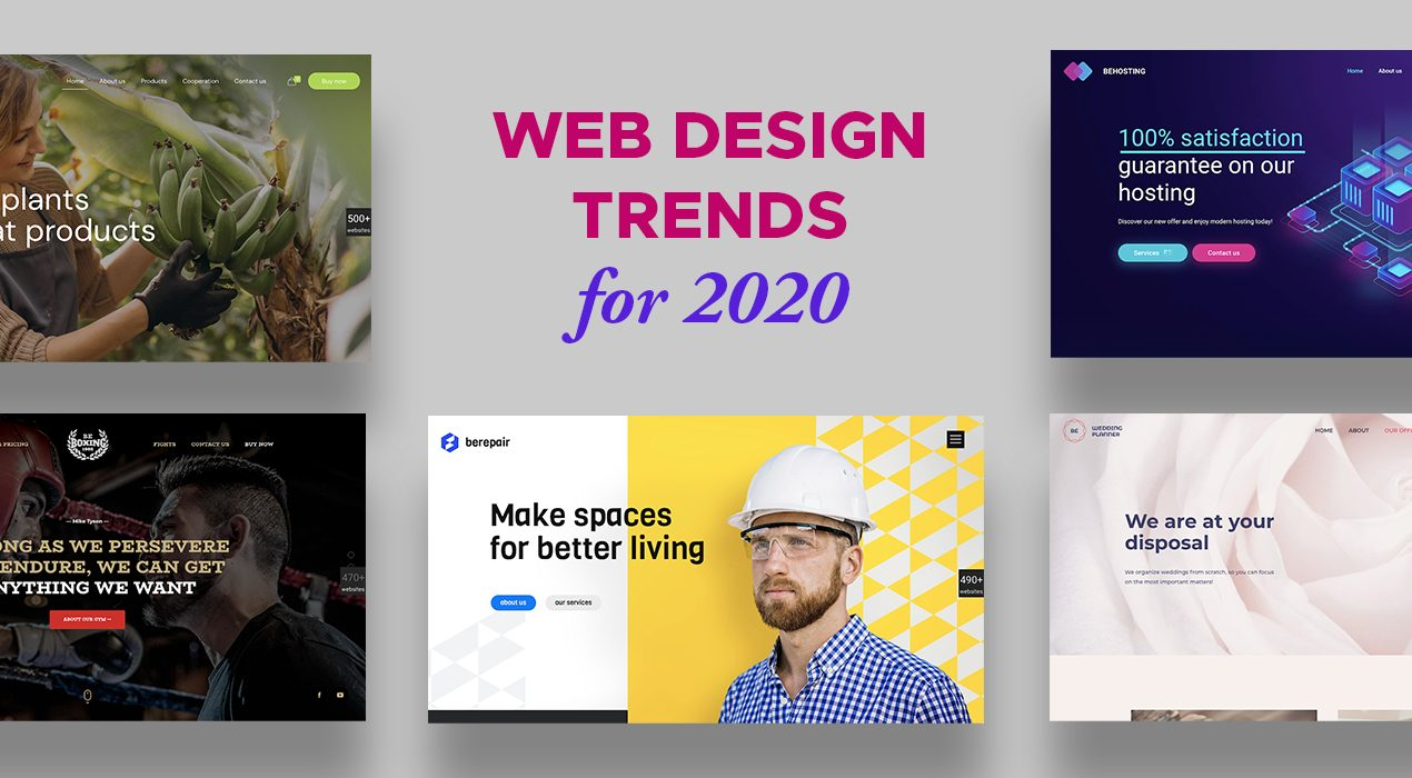 5 Web Design Trends for 2020 You'll Want to Hang Your Hat On