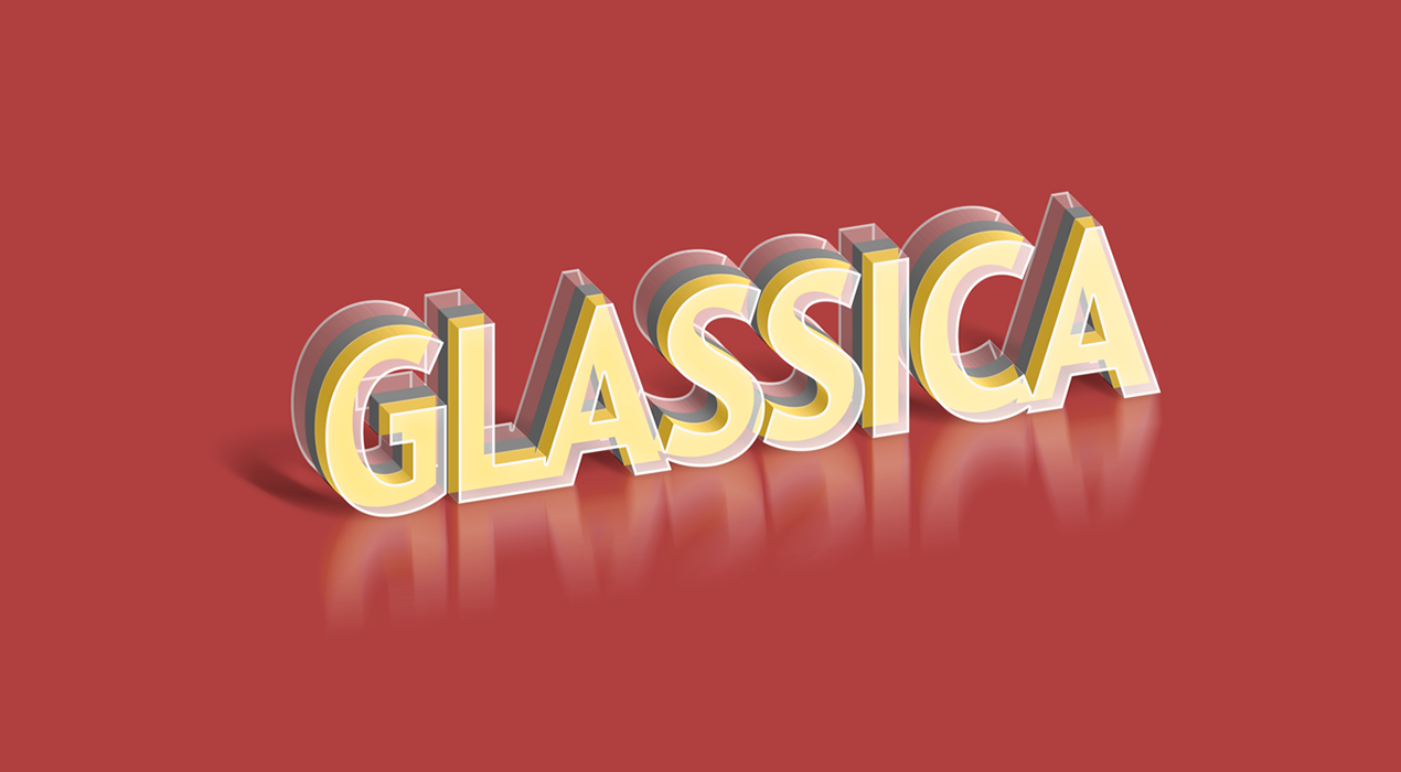 Glassica Text Effect