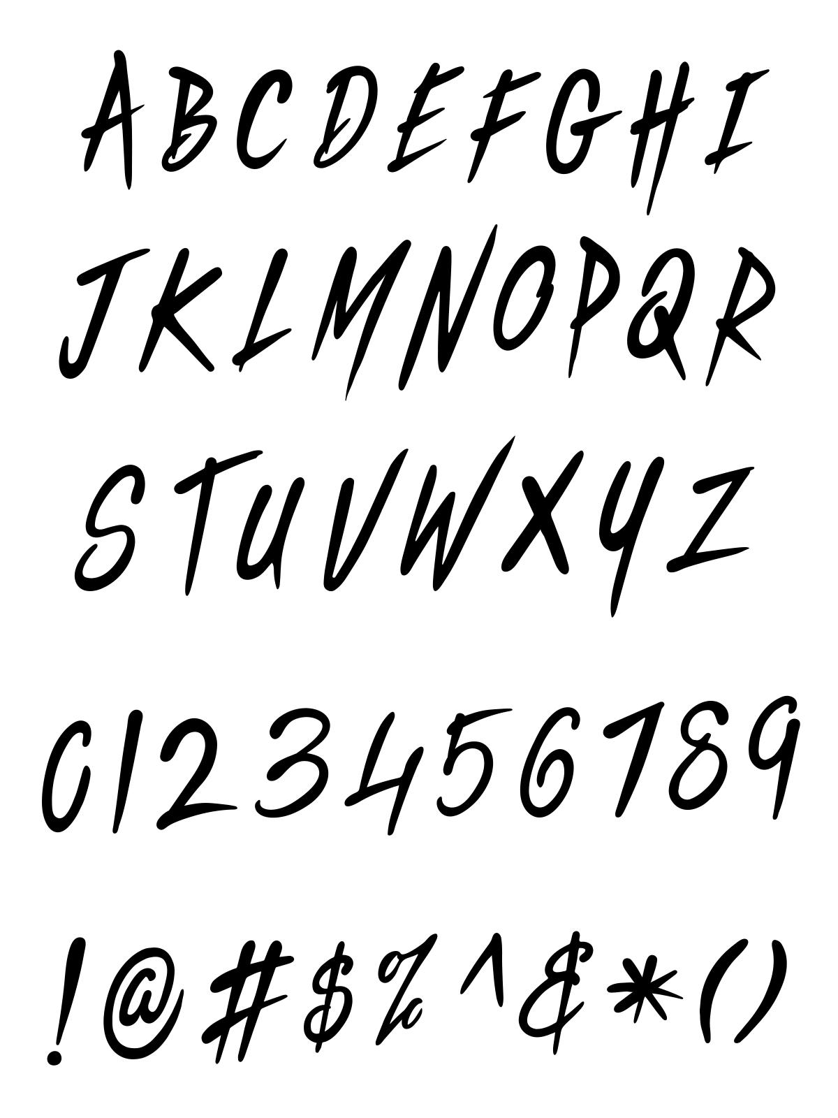 Vector Font Alphabets