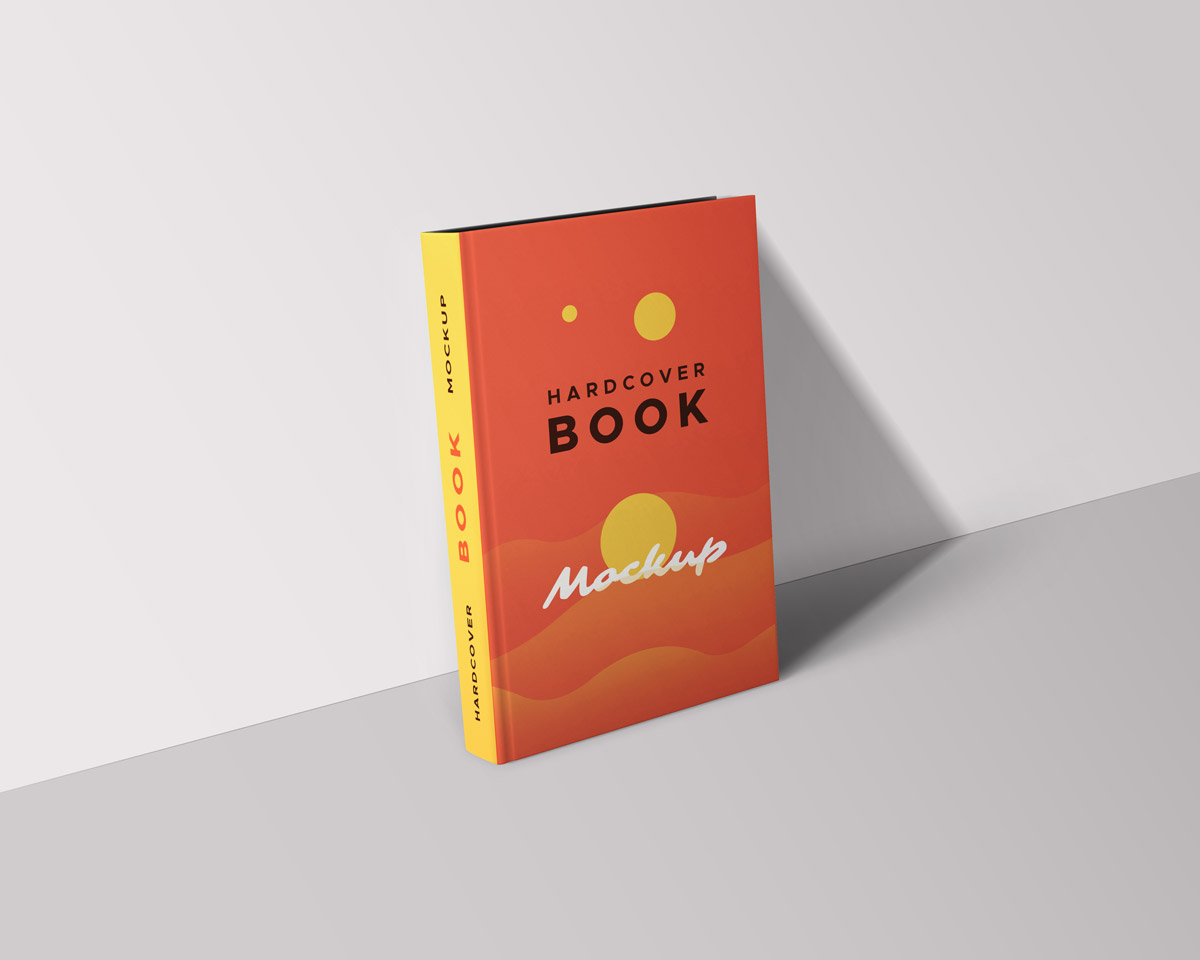 Hardcover Book Mockup Template