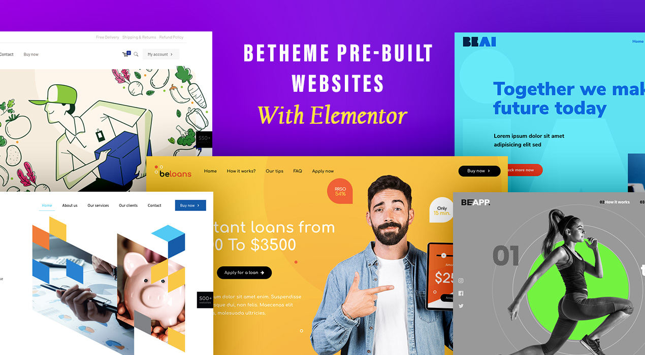 These 8 BeTheme pre-built websites are set up with Elementor to save your time and trouble