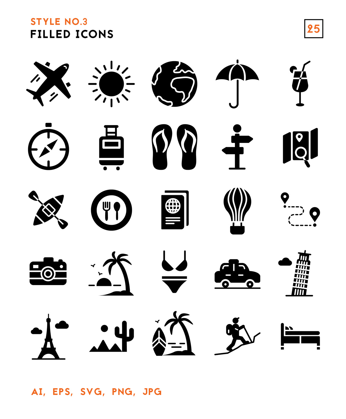 Vector Travel Icons Pack