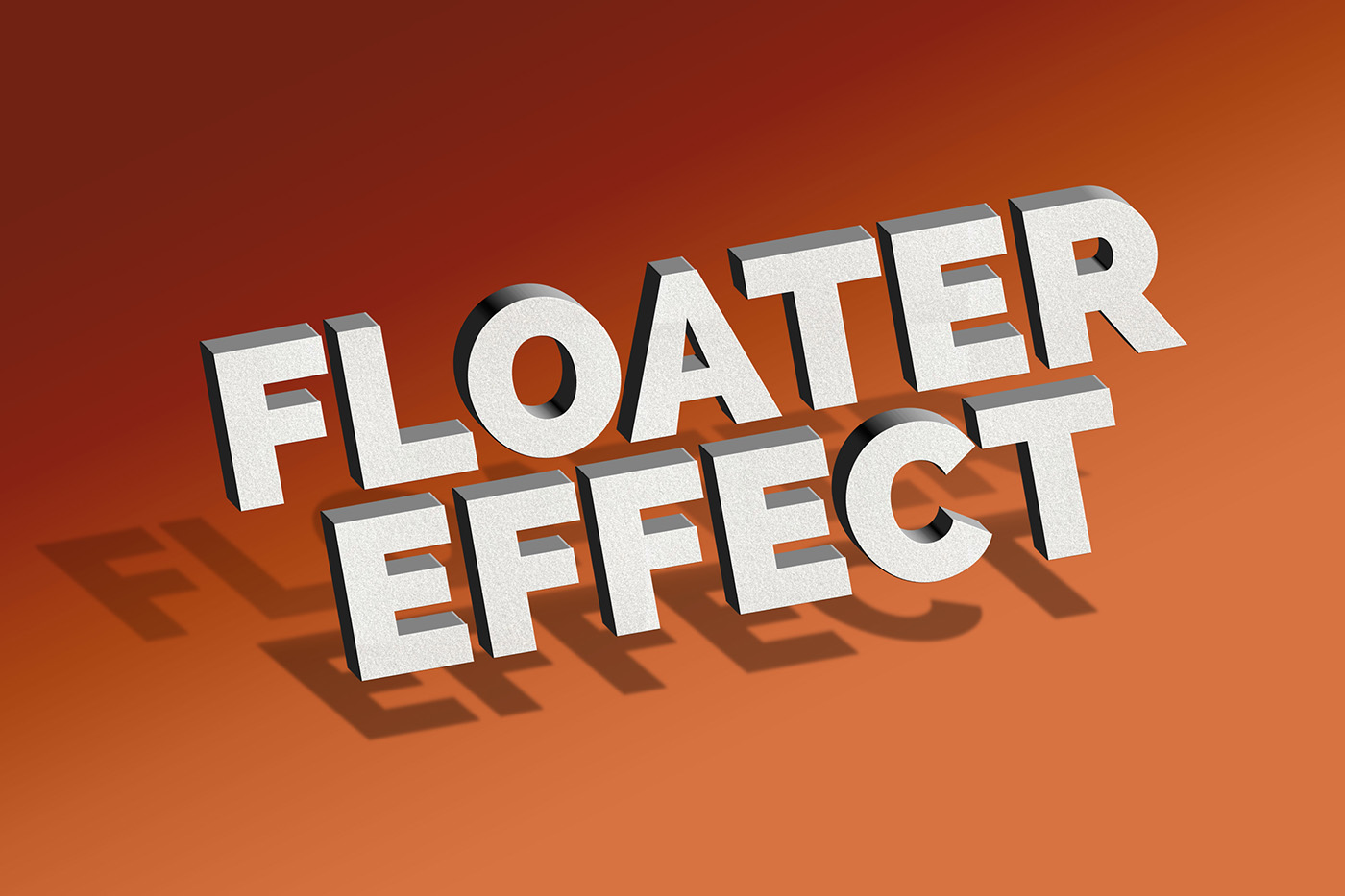 Floating Text Effect PSD