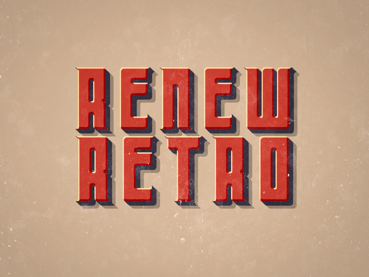 PSD Retro Text Effects