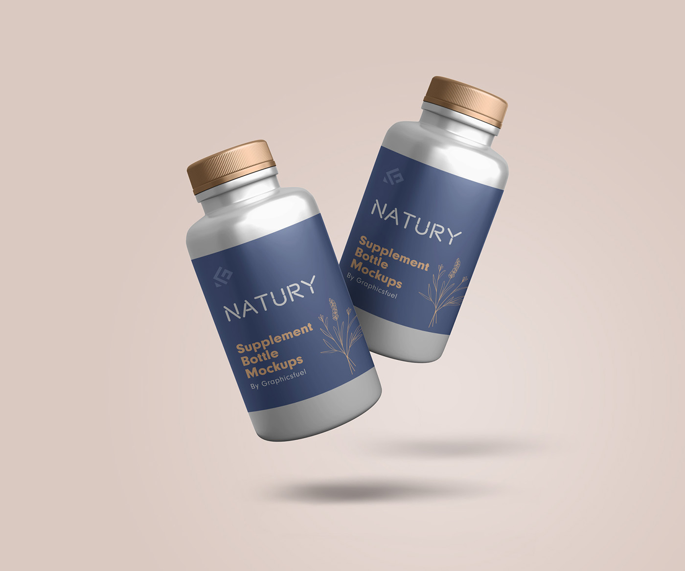 Supplement Bottle Mockup Templates