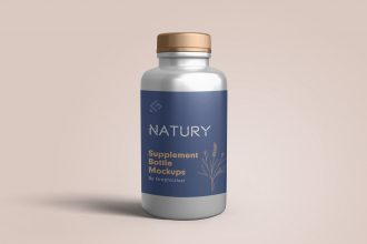 Supplement Bottle Mockup Templates