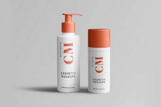 Cosmetic Product Bottle Mockup Templates
