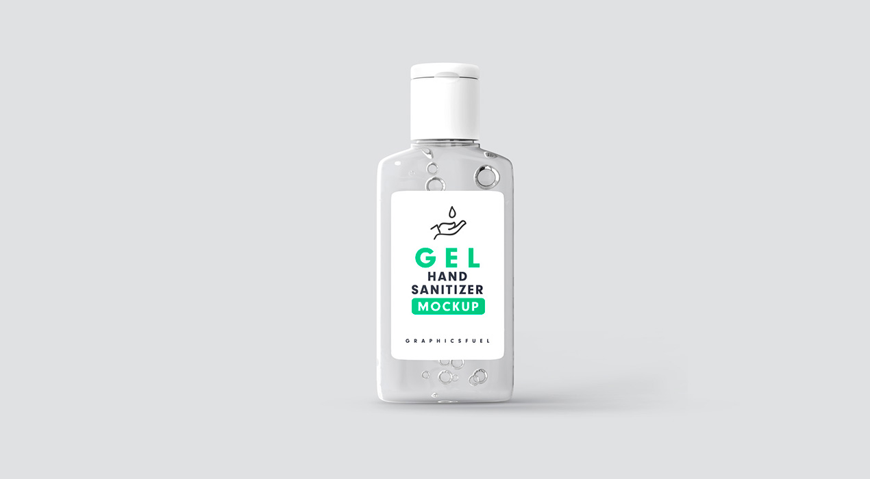 Hand Sanitizer Bottle Mockup
