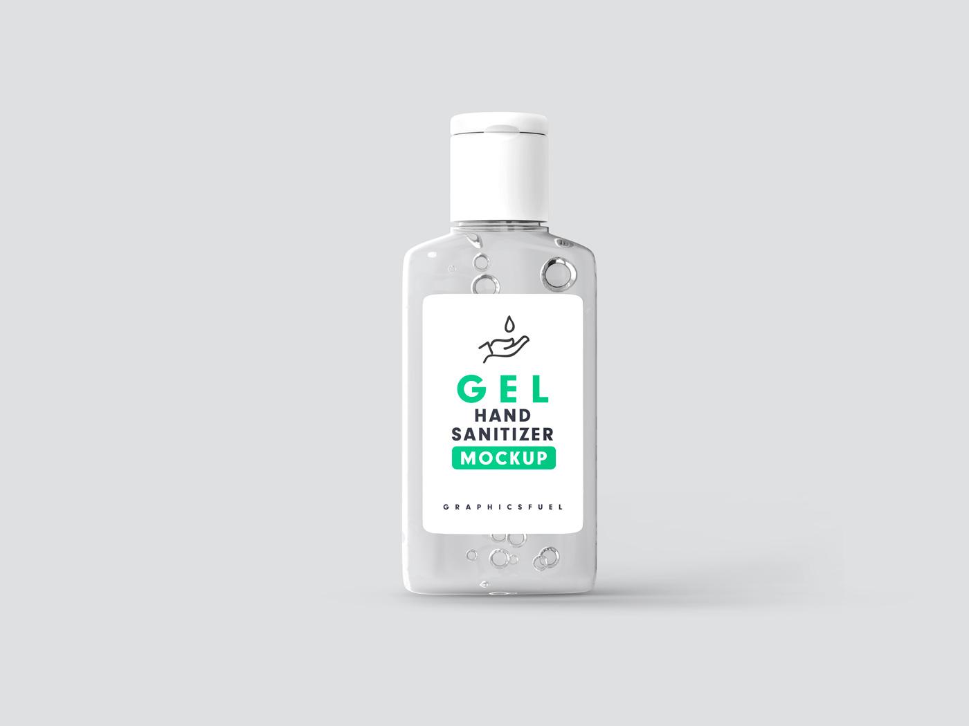 Hand Sanitizer Bottle Mockup PSD