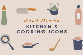 A collection of 40 hand-drawn kitchen and cooking icons inspired by various utensils in the kitchen. This was a little fun hand-drawn artwork for me using my iPad and the pencil. Well, you can use these icons to decorate your artwork, create your logos, icons, social media graphics, blog posts, greeting cards, invitations, website icons and more! The icons are vector shapes and you can easily colour them, resize them as you like. So go ahead and download the icons and create something fresh from the kitchen. :)