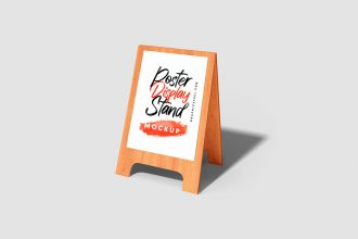 Advertisement Poster Display Stand Mockups