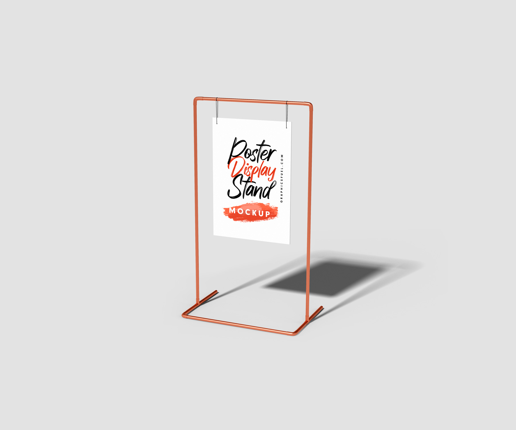 Metal Marketing Poster Display Stand