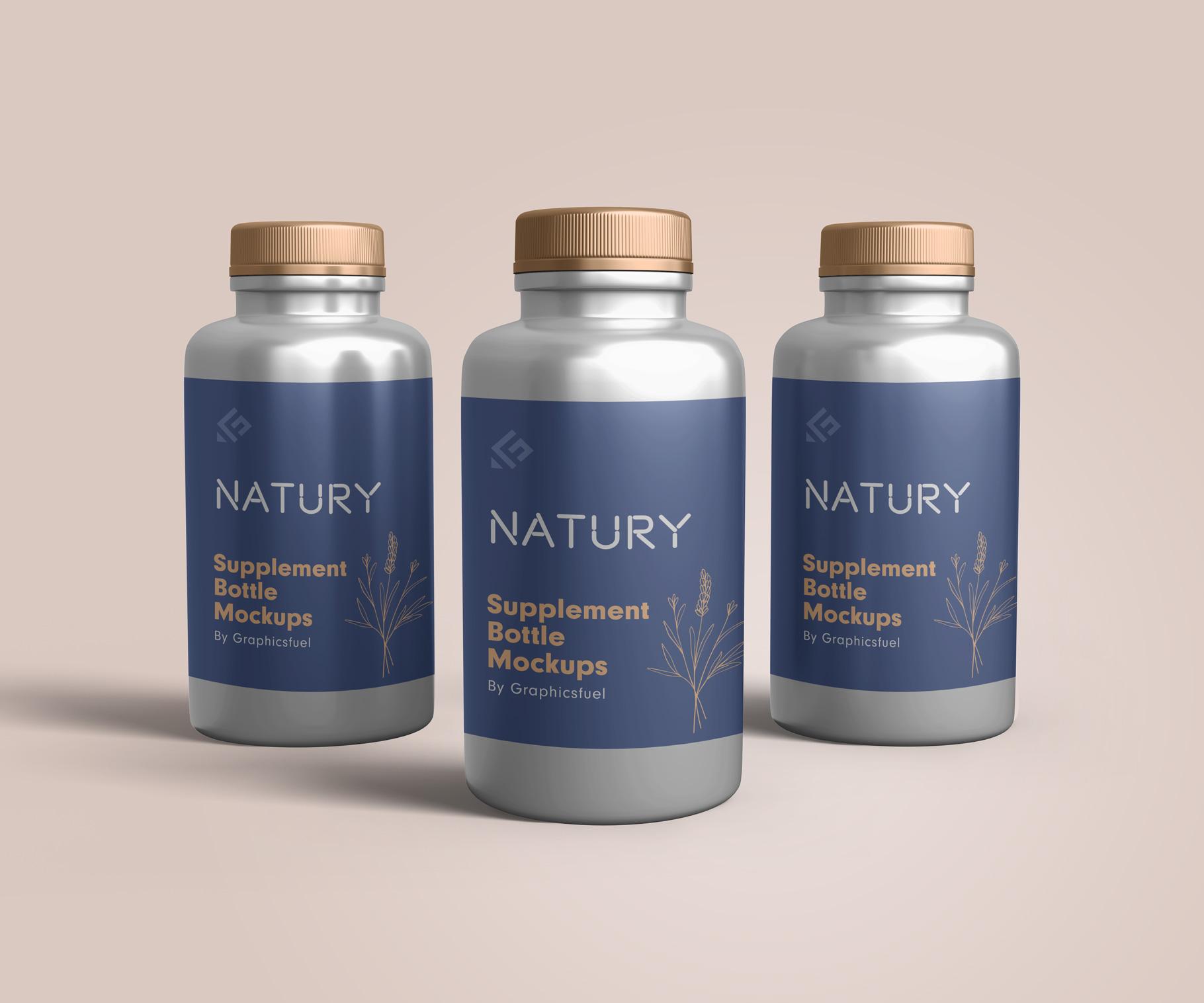 PSD Supplement Bottle Mockups