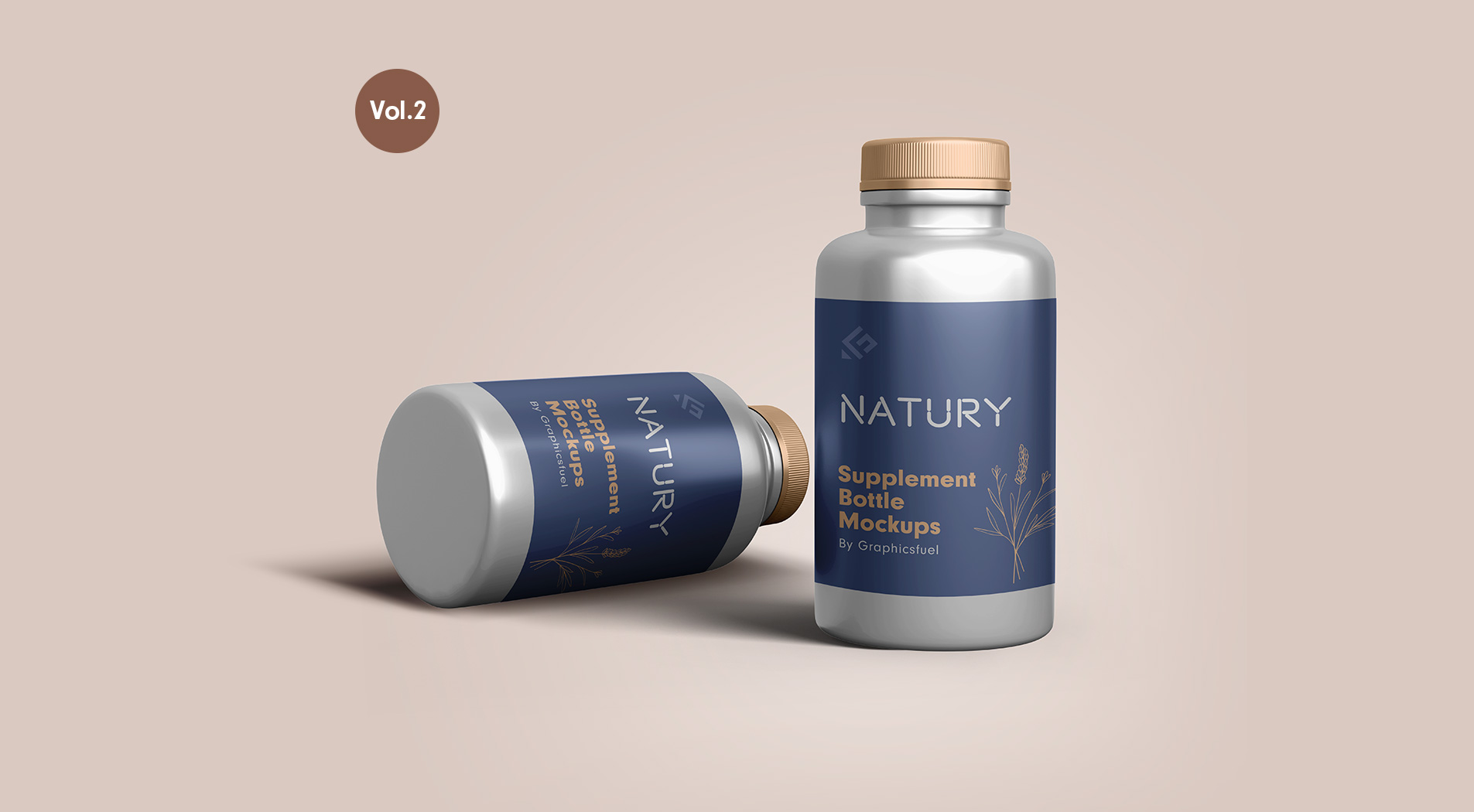 Supplement Bottle Mockups Vol.2