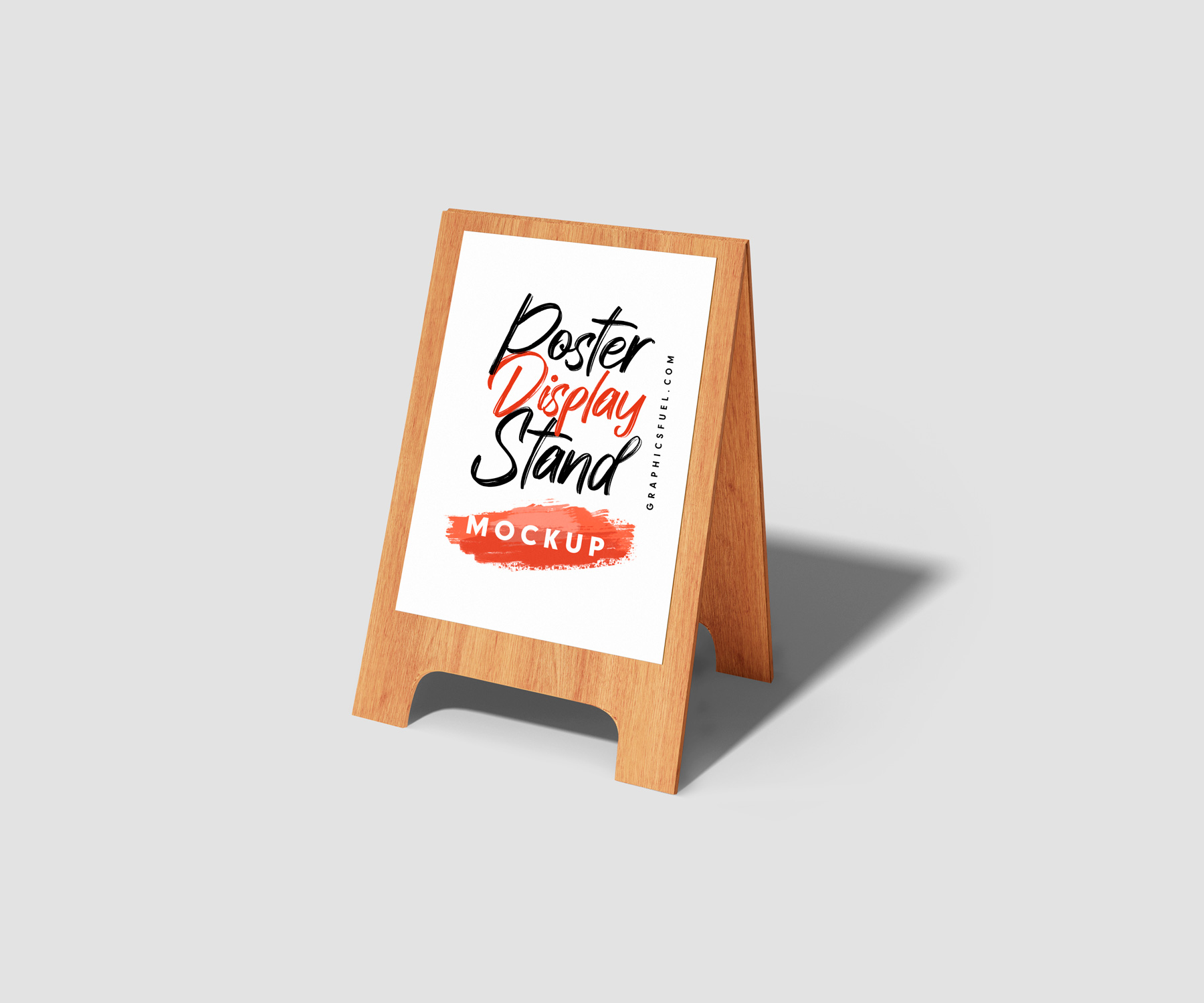 Wooden Marketing Poster Display Stand