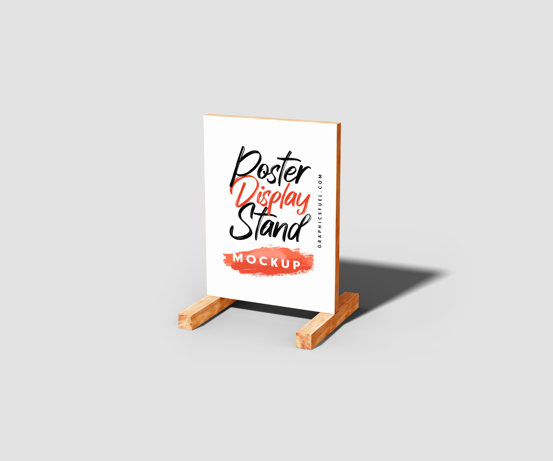 Wooden Advertisement Poster Display Stand
