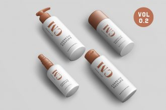 Cosmetic Product Bottle Mockups Vol.2