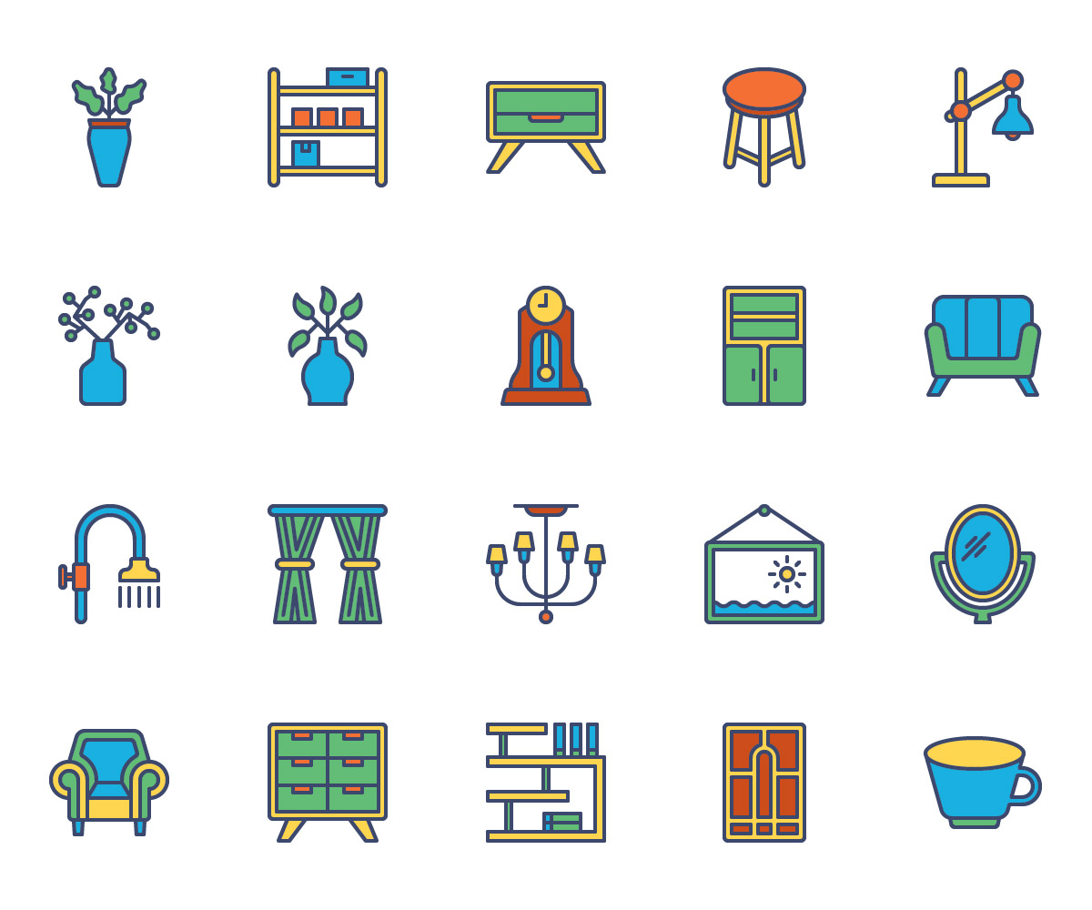 Home Decor Color Icons