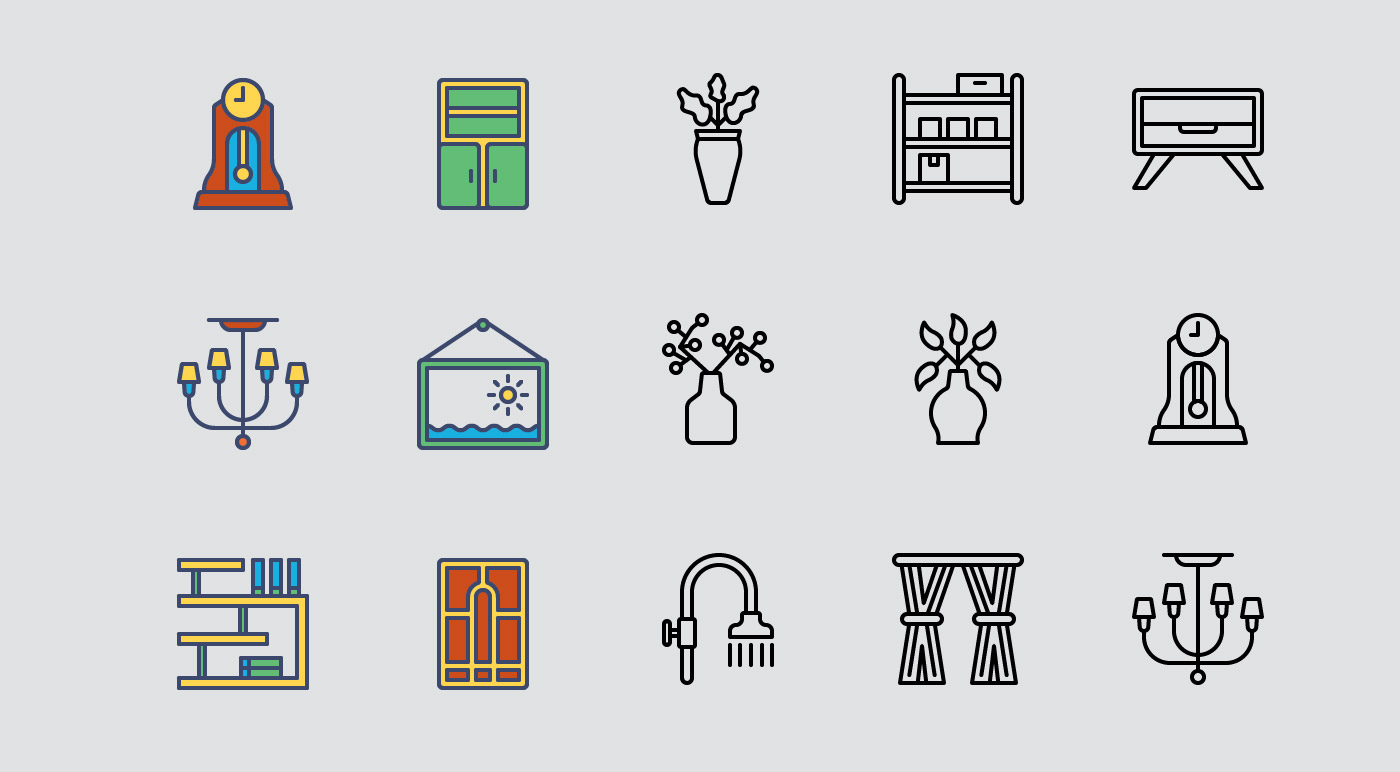 Home Decor Icons Pack