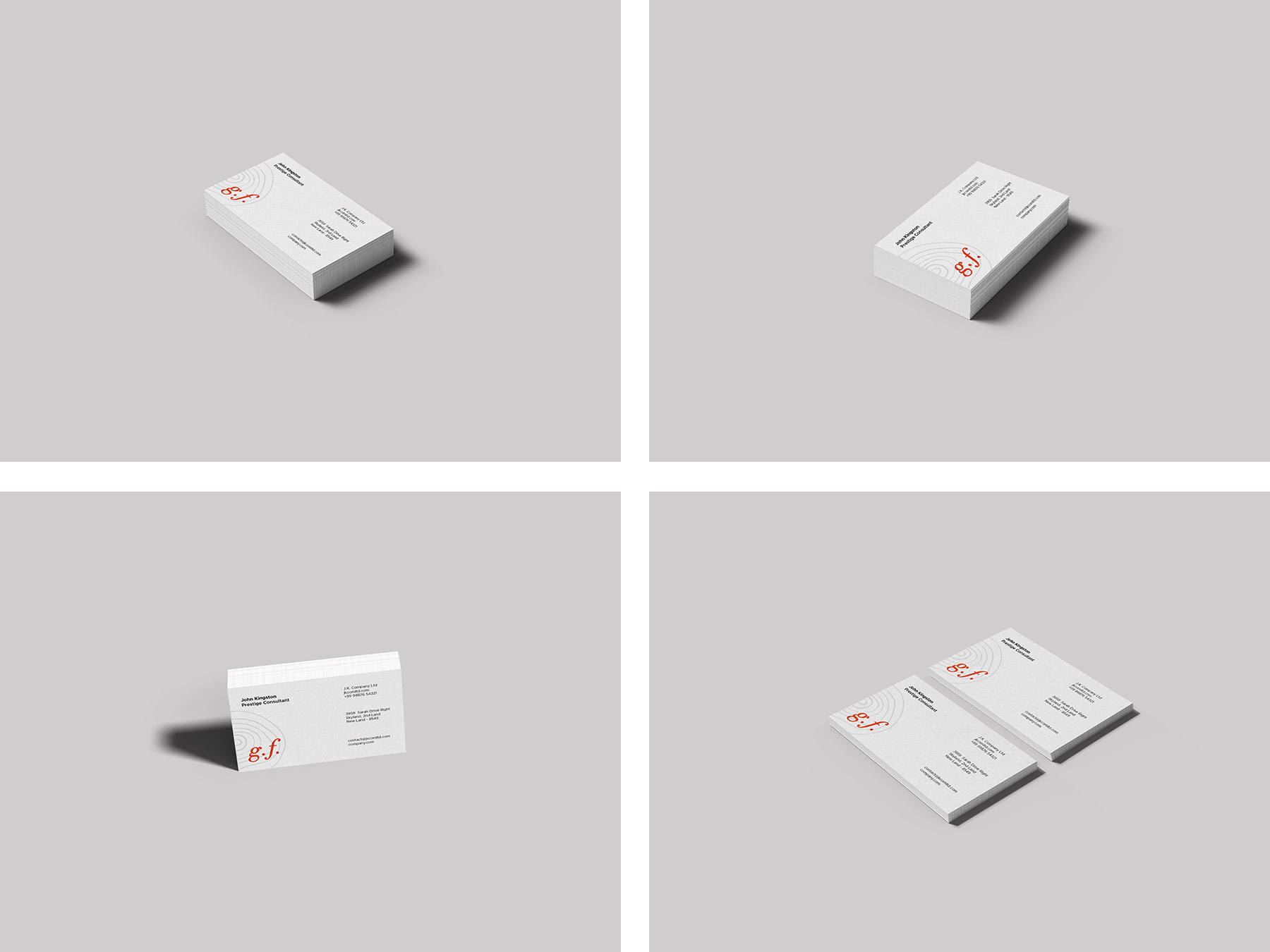 Business Card Mockup Templates PSD