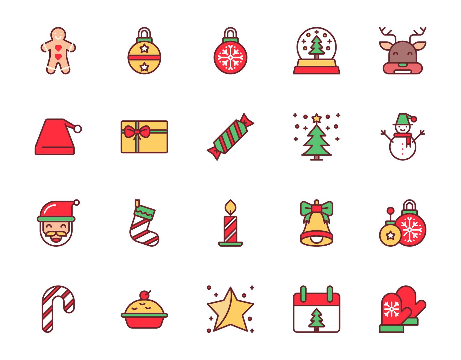 Free Christmas Color Icons