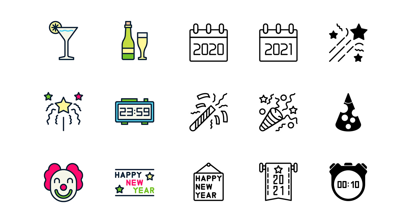 Free Happy New Year Icons - GraphicsFuel