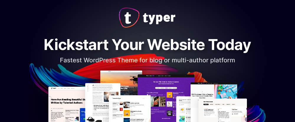 Typer – Amazing Theme with Multi Author Publishing Features
