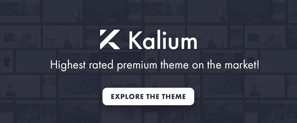 Kalium – Professional theme for multiple uses