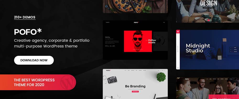 Pofo – Creative Portfolio, Blog and eCommerce WordPress Theme