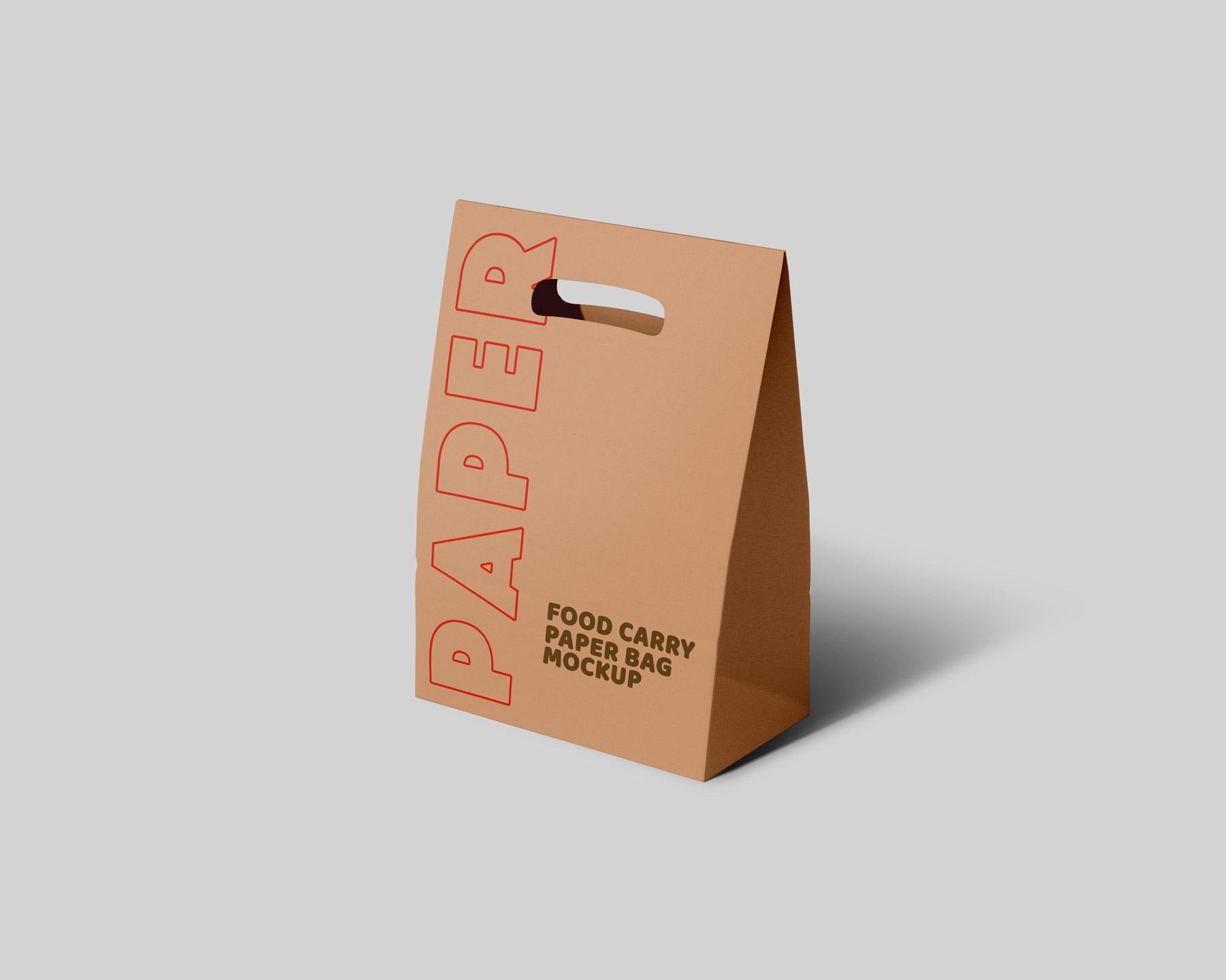 Brown Packaging Paper Carry Bag Mockup