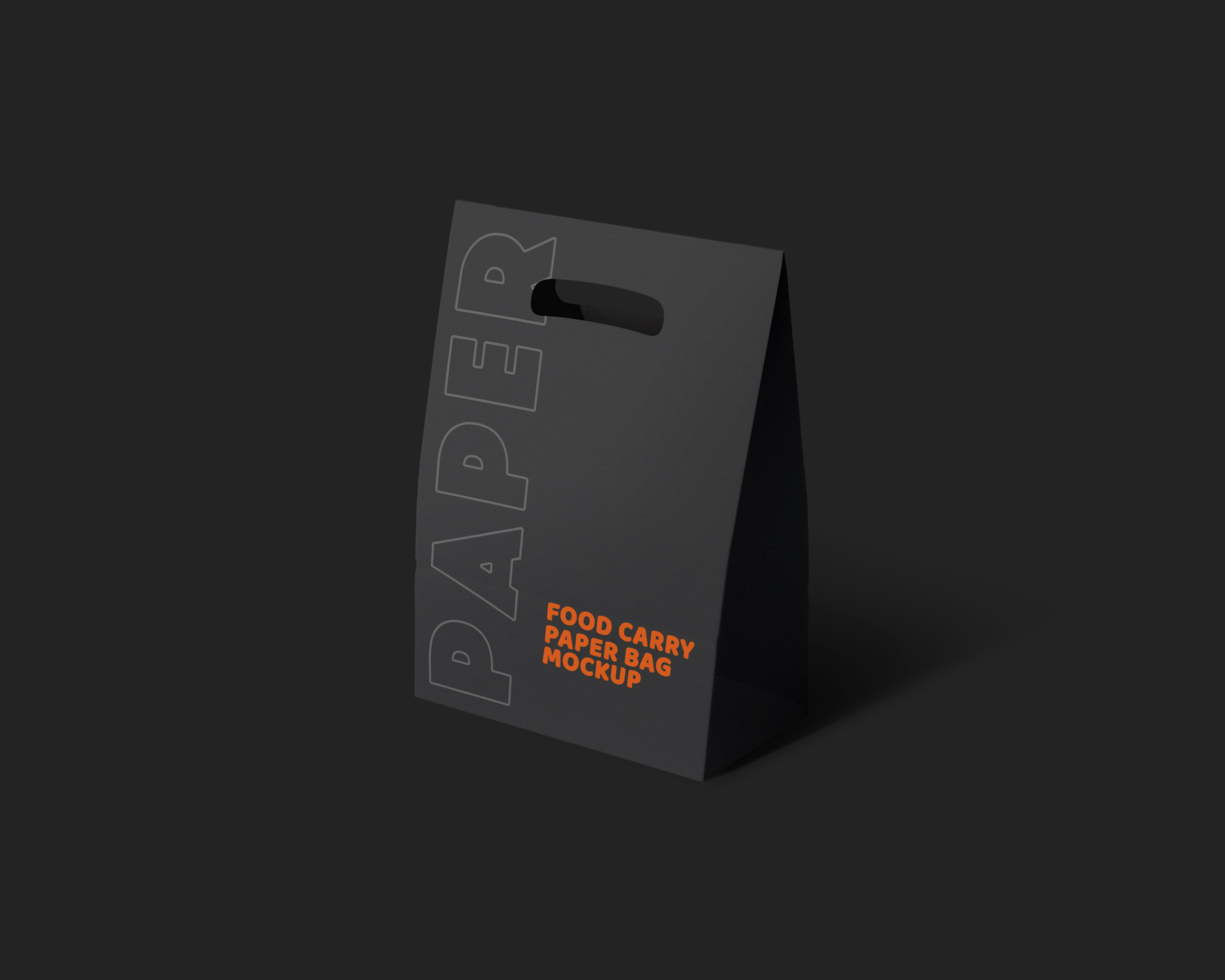 Dark Packaging Paper Carry Bag Mockup