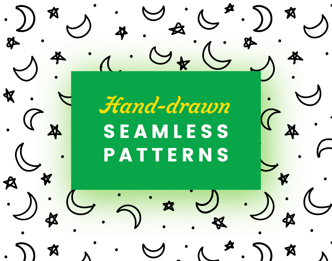 Hand-drawn Seamless Abstract Patterns