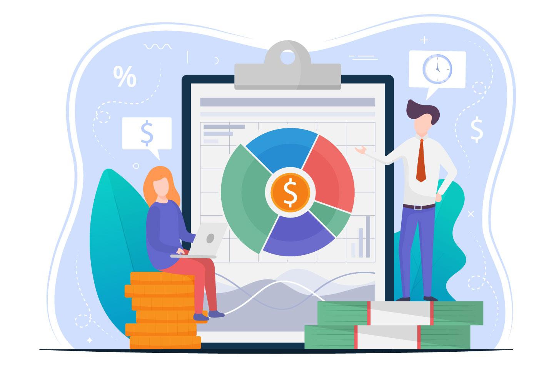 Company Budget Planning Vector Free Illustration