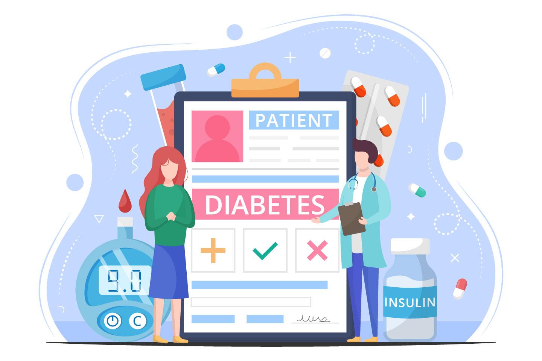 Diabetes Vector Free Flat Illustration