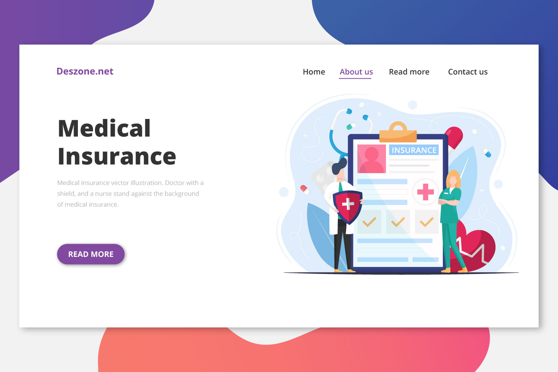 Medical Insurance Free Vector Illustration