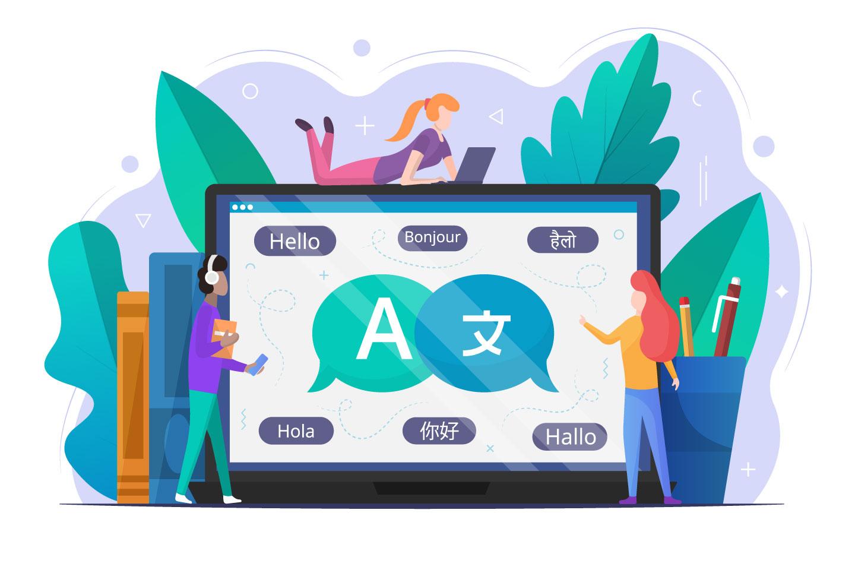 Online Translator Vector Free Illustration